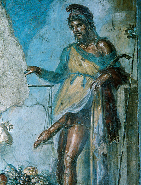 Image result for Priapus weighing penis pompeii