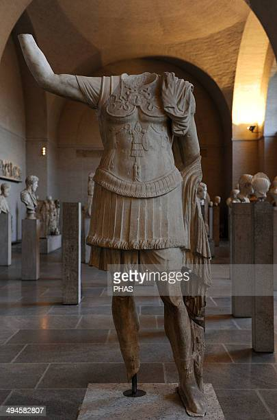 Roman art Statue of a military commander 1st century BC Glyptothek Munich Germany