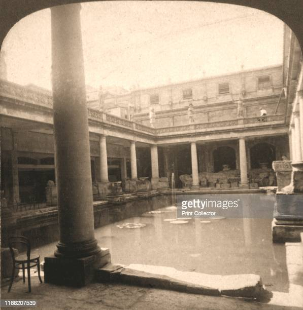 Roman Bath's Bath England' 1900 From Underwood and Underwood Publishers New YorkLondonToroto CanadaOttawa Kansas Artist Works and Sun Sculpture...