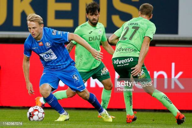 Roman Bezus midfielder of KAA Gent pictured during the Jupiler Pro League match between KAA Gent and KV Oostende at the Ghelamco Arena on August 18,...