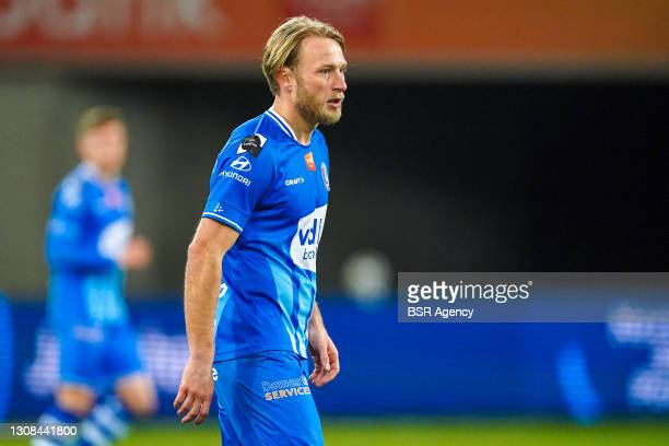 Roman Bezus of KAA Gent during the Jupiler Pro League match between KAA Gent and Cercle Brugge at Ghelamco Arena on March 21, 2021 in Gent, Belgium