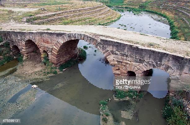 Roman bridge in Villa del Rio Andalusia Spain Roman civilisation 2nd century