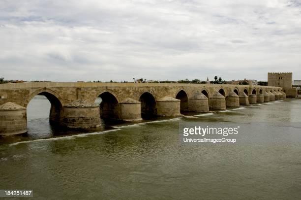 Roman bridge over Guadalquivir River Cordoba Spain