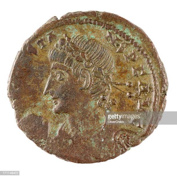 Roman bronze coin.