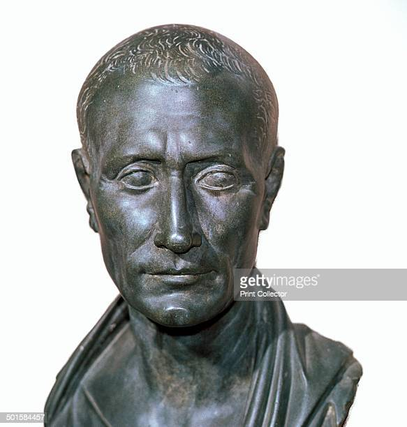 Roman bronze portrait bust of Julius Caesar now in the Vatican Museum 1st century BC