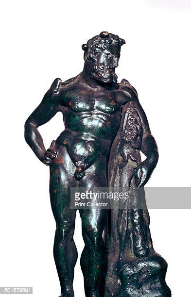 Roman bronze statuette of Hercules with his lion skin and club 1st2nd century BC From the British Museum's collection