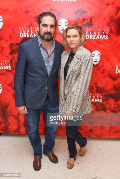 Roman Bucar and Julia Bright attend Meet The Artists Creating Sleeping Beauty Dreams at Guggenheim Museum on September 13 2018 in New York City