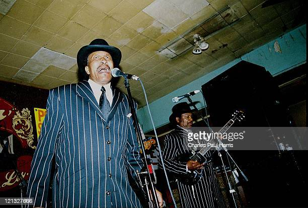 Roman Carter and Al Carter of The Carter Brothers perform live at the Ponderosa Stomp on April 26, 2005 in New Orleans, Louisiana.