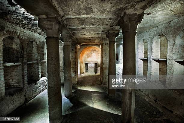 roman catacomb tomb - rome italy stock pictures, royalty-free photos & images