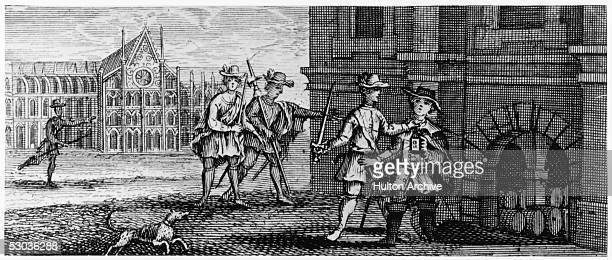 Roman Catholic conspirator Guy Fawkes is arrested in a cellar underneath Parliament where he was attempting to detonate 2500 kg of gunpowder 5th...