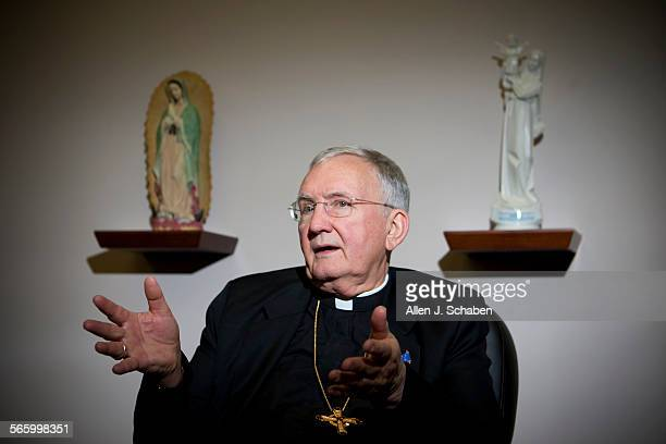 Roman Catholic Diocese of Orange County Bishop Tod D. Brown talks about winning the bid to buy the Crystal Cathedral at the Marywood Pastoral Center...