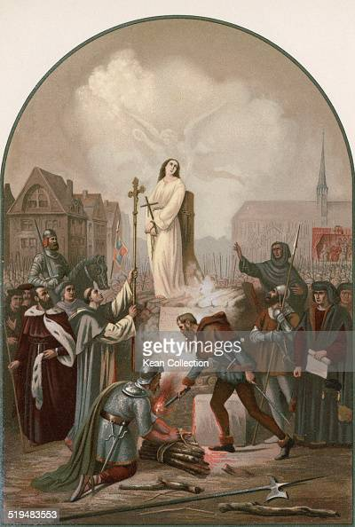 Roman Catholic saint, Joan of Arc is burnt at the stake in