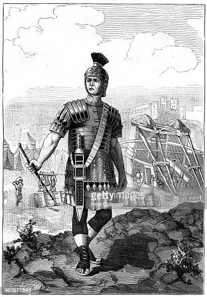Roman centurion conquering the Gauls under Julius Caesar 1st century BC Caesar conquered Gaul in the Gallic Wars between 58 and 51 BC A print from La...