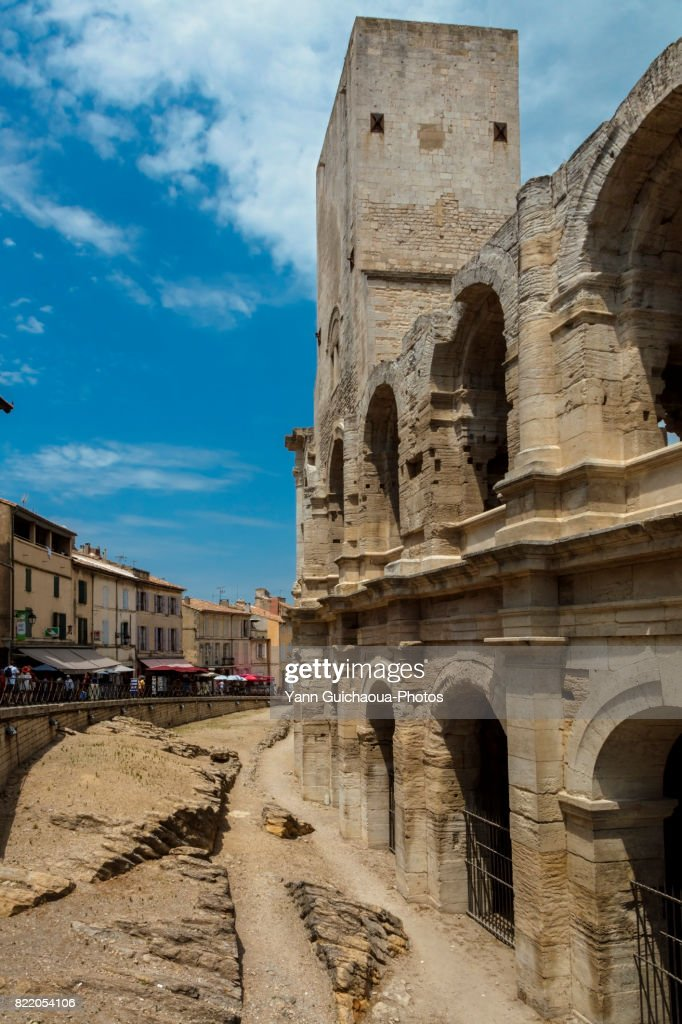 Roman circus, Arles, Bouches du Rhone, France : Stock Photo