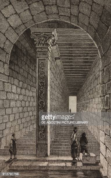 Roman cistern Merida Spain engraving by Lemaitre from Espagne by Joseph Lavallee and Adolphe Gueroult L'Univers pittoresque published by Firmin Didot...