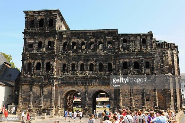 Roman city gate Porta Nigra in Trier (Germany)