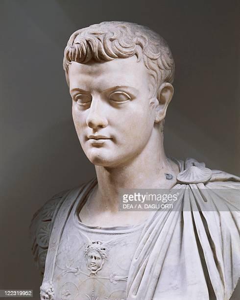 Roman civilization 1st century AD Marble bust of Emperor Caligula photographed circa 1990
