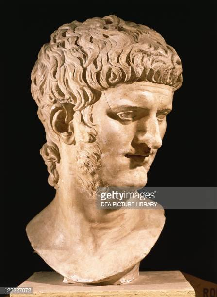Roman civilization 1st century AD Nero Roman emperor from 54 marble portrait head