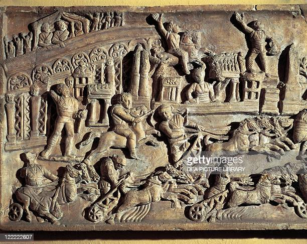 Roman civilization 1st century AD Relief depicting Circus Maximus during games