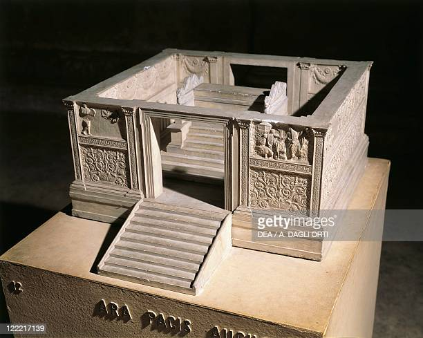 Roman civilization 1st century bC Reconstruction of Ara Pacis Augustae altar built between 13 and 9 bC to celebrate the peace established by Augustus...