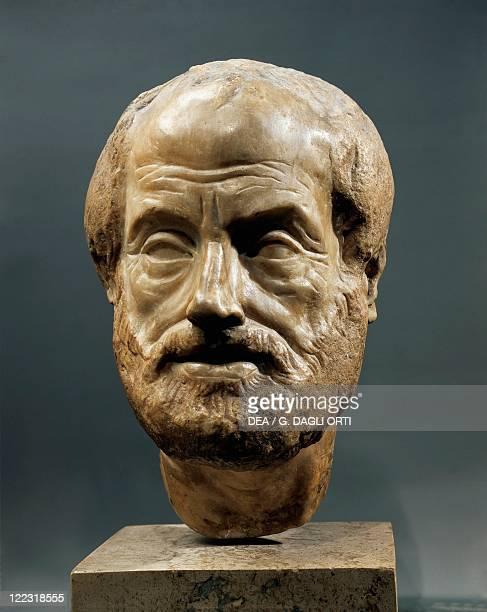 Roman civilization 1st2nd century AD Marble head of Greek philosopher Aristotle