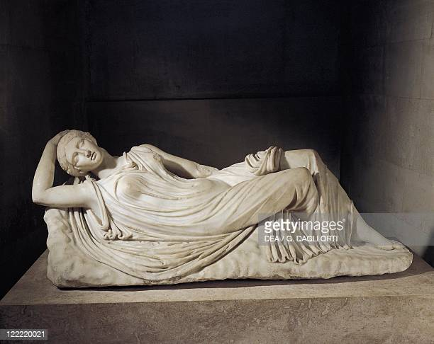 Roman civilization 1st2nd century AD Marble statue of sleeping Ariadne abandoned by Theseus on Naxos