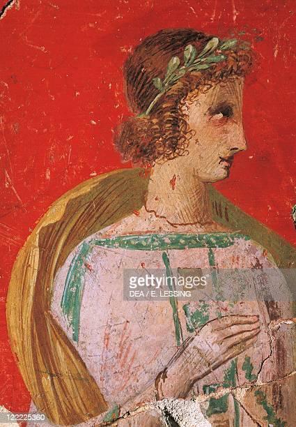 Roman civilization Austria Fresco portraying Persephone from Magdalensberg