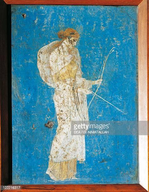 Roman civilization Fresco depicting Diana From Pompei Italy