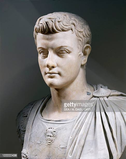 Roman civilization Marble bust of Roman Emperor Gaius Julius Caesar Augustus Germanicus known as Caligula in 23 AD