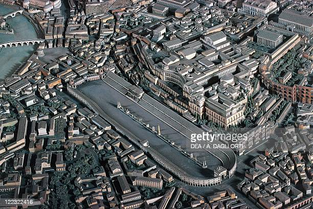 Roman civilization. Plastic model of ancient Rome, Circus Maximus.