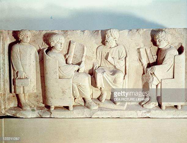 Roman civilization Relief depicting school scene