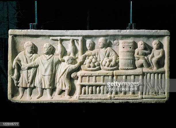 Roman civilization Relief portraying a market scene