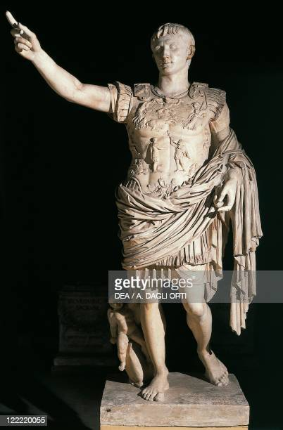 Roman civilization Statue with lorica armour of Augustus From Prima Porta Rome