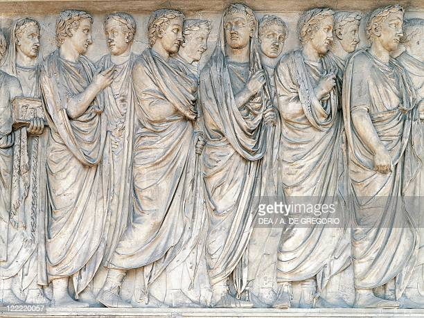 Roman civilization1st century bC Rome Augustae Ara Pacis built between 13 and 9 bC to celebrate the peace of Augustus Relief of the procession that...