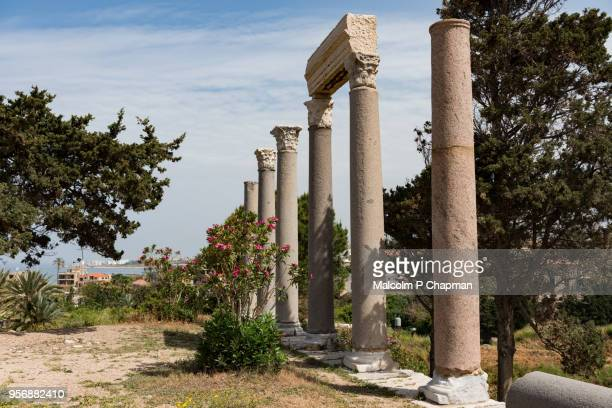Roman colonnade at Byblos Archaeological Site, Jbail, Lebanon