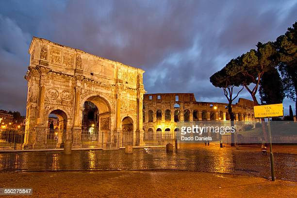 Roman Colosseum and Arch