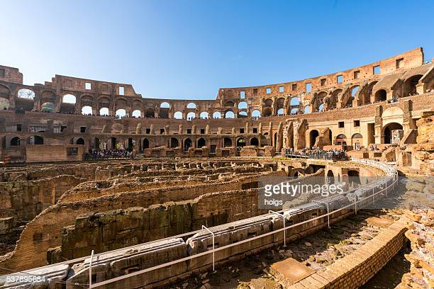 roman colosseum in rome, italy - inside the roman colosseum stock photos and pictures
