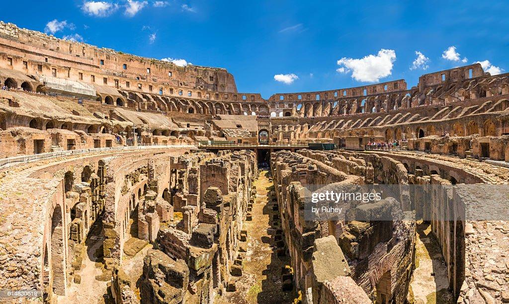 Roman colosseum panorama : Stock Photo