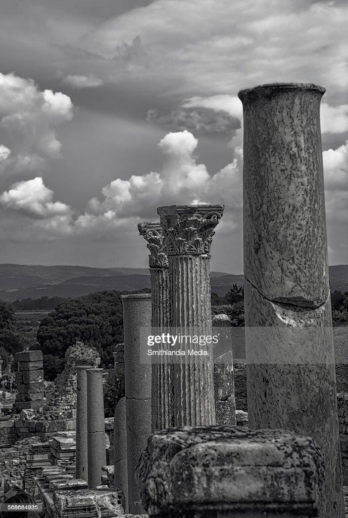 Roman Columns In Ephesus : Stock Photo