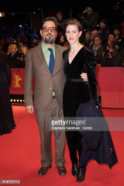 Roman Coppola and Jennifer Furches attend the Opening Ceremony 'Isle of Dogs' premiere during the 68th Berlinale International Film Festival Berlin...