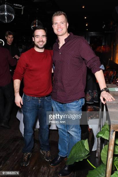 Roman Daily and Zach Jones attend Leesa Rowland's Animal Ashram PopUp Penthouse on February 7 2018 in New York City