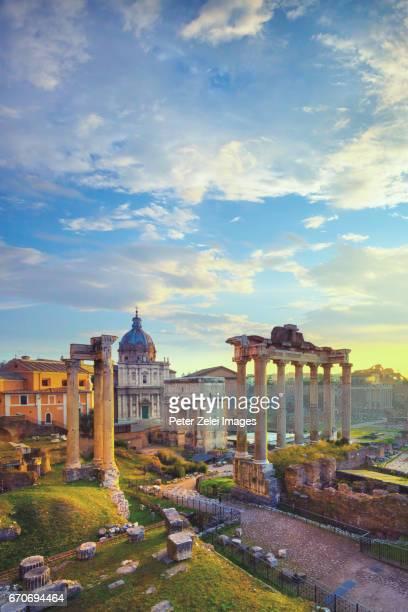 Roman Forum at sunrise, Rome, Italy