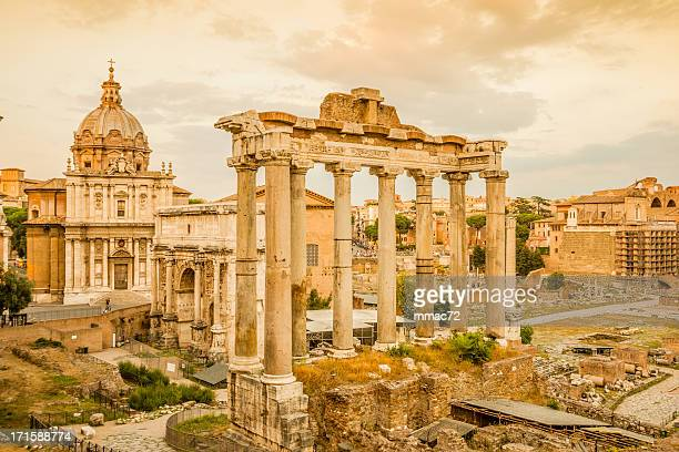 roman forum - arch of septimus severus stock pictures, royalty-free photos & images