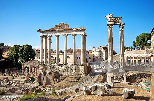 roman forum - old ruin stock pictures, royalty-free photos & images