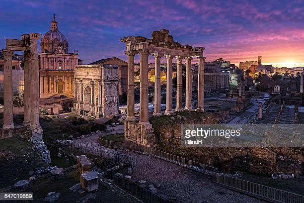 Roman Forum Ruins, Rome, Italy