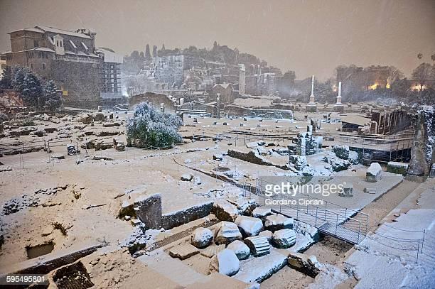 Roman Forum under snow