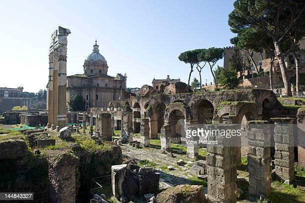 Roman Forum Via Appia RomeItaly Architect Unknown Roman Forum With Church Of Sts Cosma Damian In Background © Grant Smith 2009