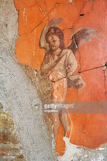 Roman plein air avec Herculaum avec ailes Chérubin