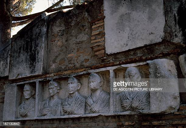 Roman funerary reliefs with the portraits of patrician families Via Appia Rome Italy Roman Civilisation 2nd century