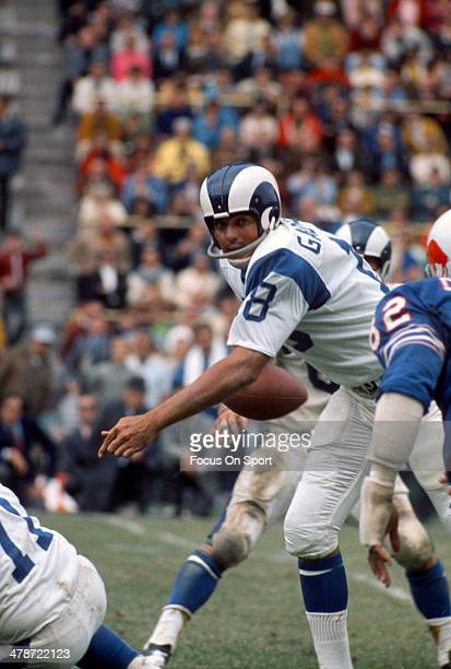 Roman Gabriel of the Los Angeles Rams in action against the Buffalo Bills during an NFL football game September 27, 1970 at War Memorial Stadium in...